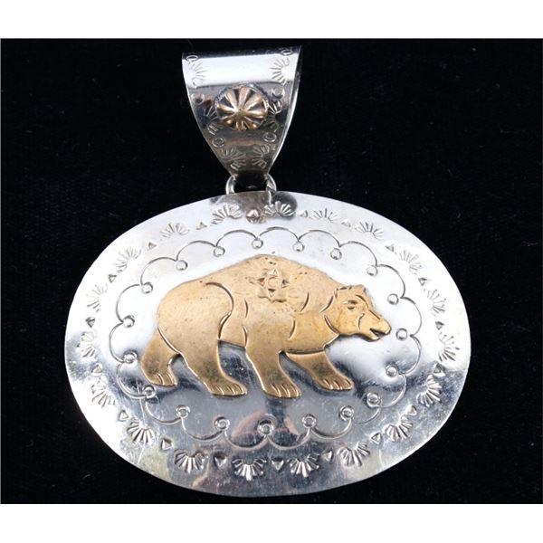 Armand American Horse Alpaca Silver Bear Pendant