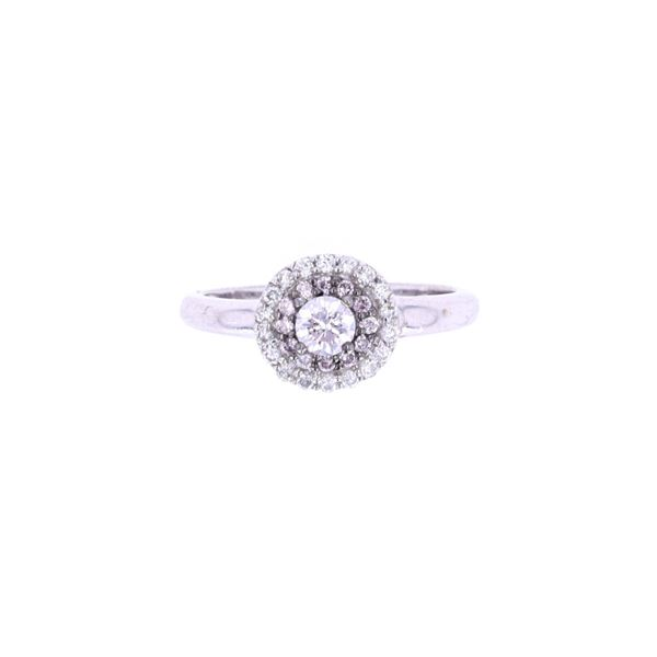 Fancy Pink & White Diamond 18k White Gold Ring