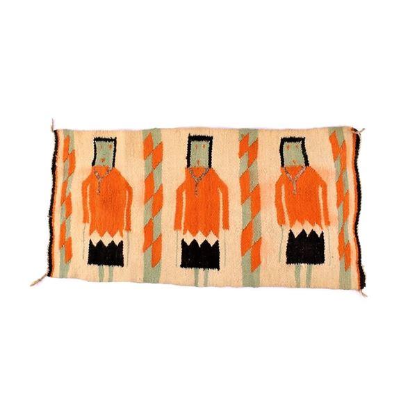 Navajo Yei Pattern Wool Small Rug