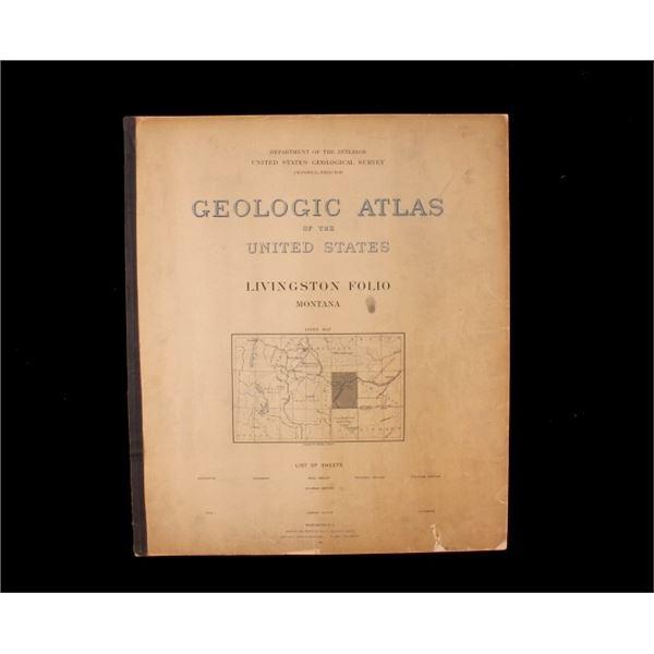 1894 Livingston Montana USGS Geologic Atlas