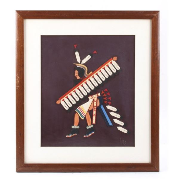 Native American Eagle Dancer Signed Broken Rope