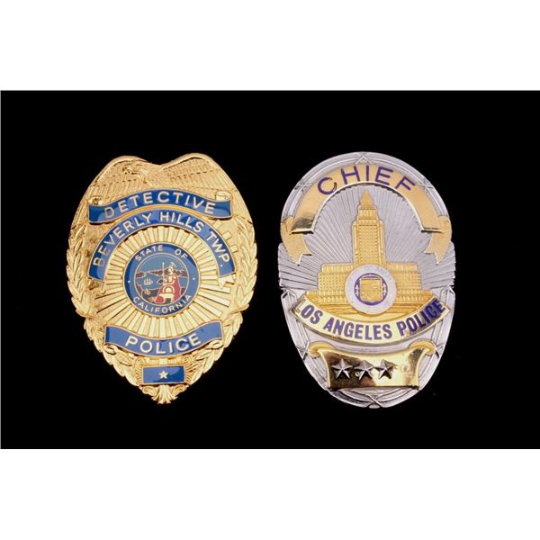 Los Angeles Police Chief & Detective Badges