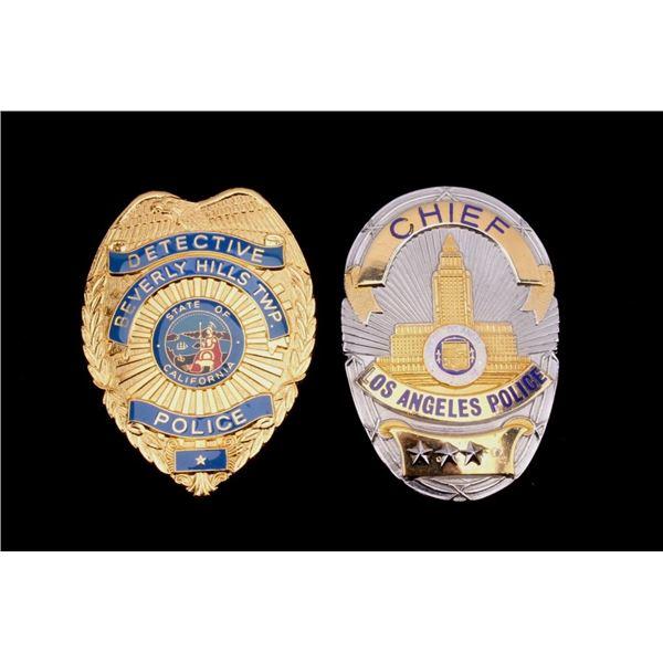 Los Angeles Police Chief & Detective Badges