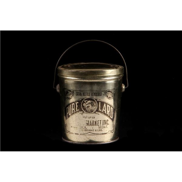 Missoula, Mont. Pure Lard Tin Bucket