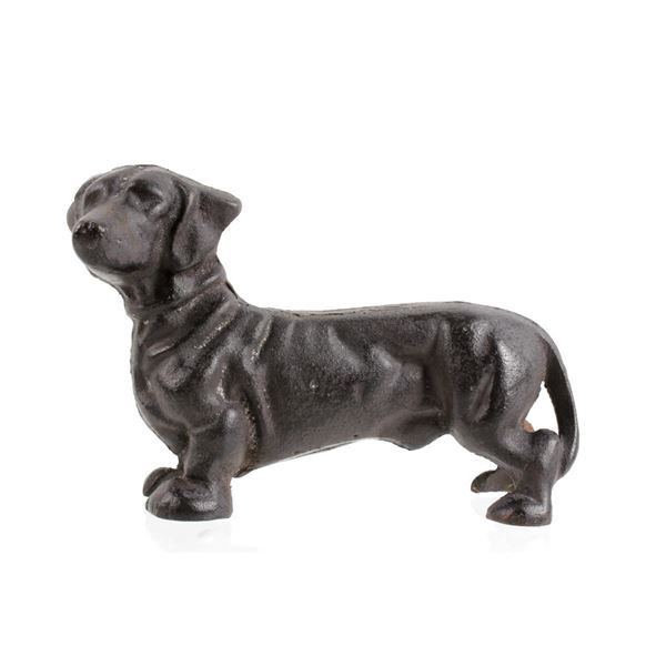 Cast Iron Dachshund Doorstop