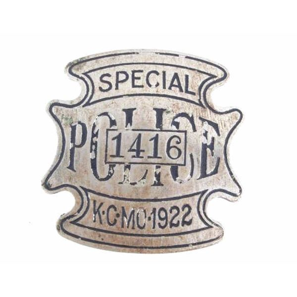 1922 Kansas City Special Police Badge