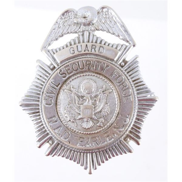 Navy Civil Security Force N.A.D. Guard Badge