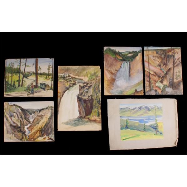 Collection of Carl & Lily Tolpo Watercolors