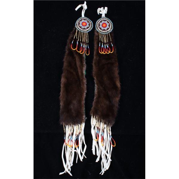 Montana Flathead Indian Beaded Tomahawk Drops