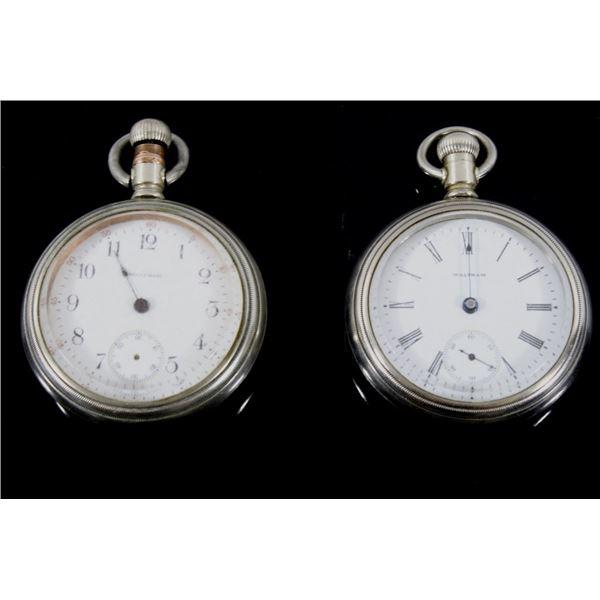 Waltham No. 18 Pocket Watch Set of Two c.1883-1906