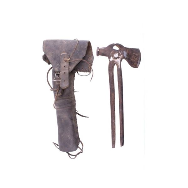 Forged Fence Mending Tool & Leather Holster