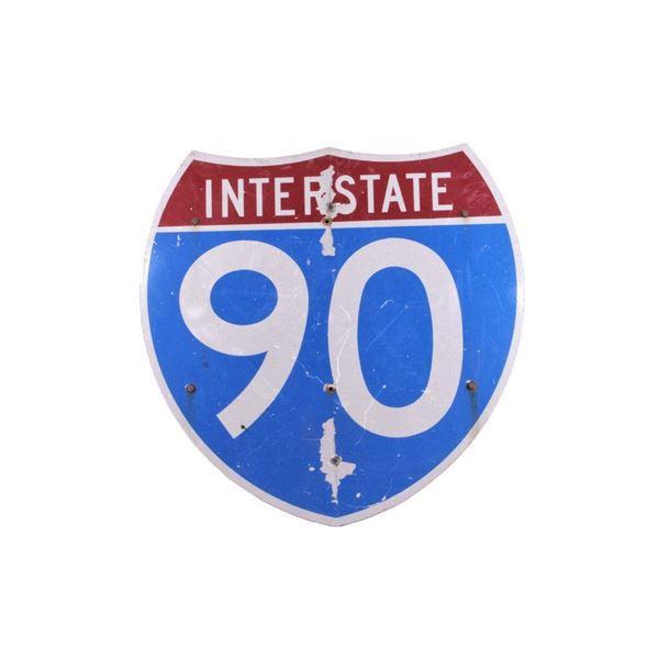 Montana Interstate 90 Highway Sign