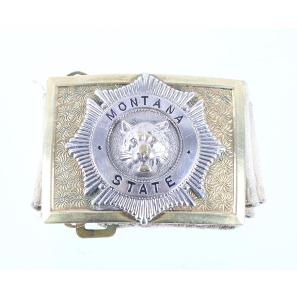 Montana State College Band Buckle
