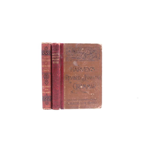 Collection Of Antique School Books c. 19th Century