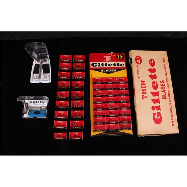 Gillette Fat Boy Adjustable Safety Razor's & Adv.