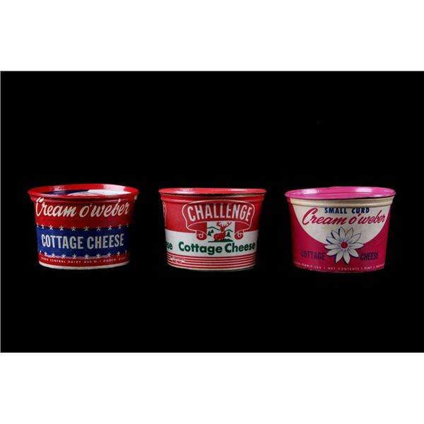 Cottage Cheese Small Curd Containers c. 1930's
