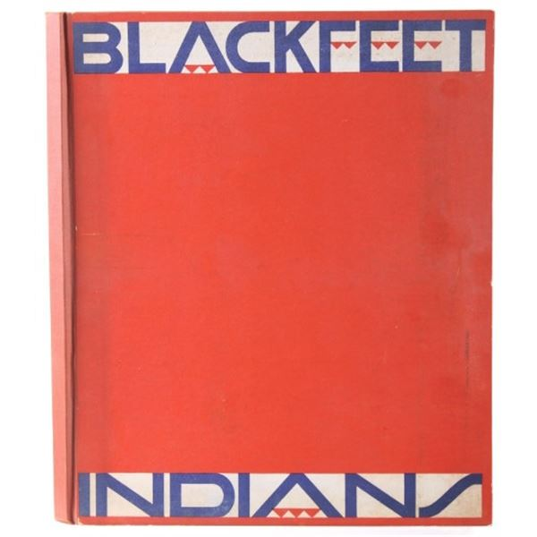 1935 Blackfeet Indians Book By Winold Reiss