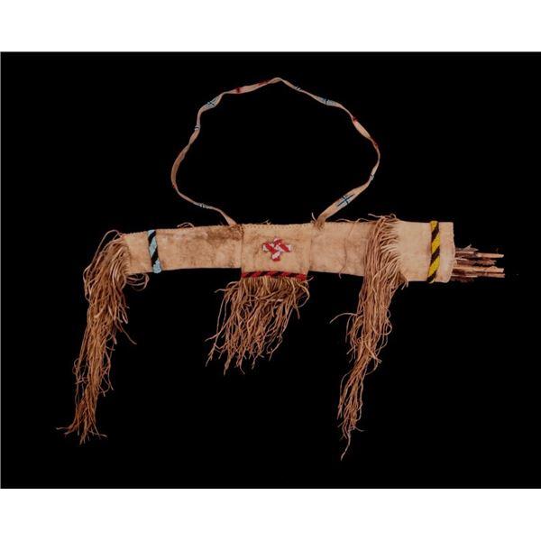 Comanche Beaded Hide Arrow Quiver w/ Arrows