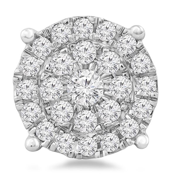 Natural 0.75 CTW Diamond & Head 14K White Gold - REF-77H4W