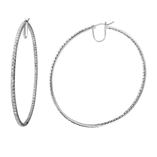 Natural 9.72 CTW Diamond Earrings 14K White Gold - REF-867X6T