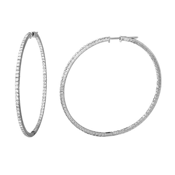 Natural 3.32 CTW Diamond Earrings 14K White Gold - REF-261Y9N