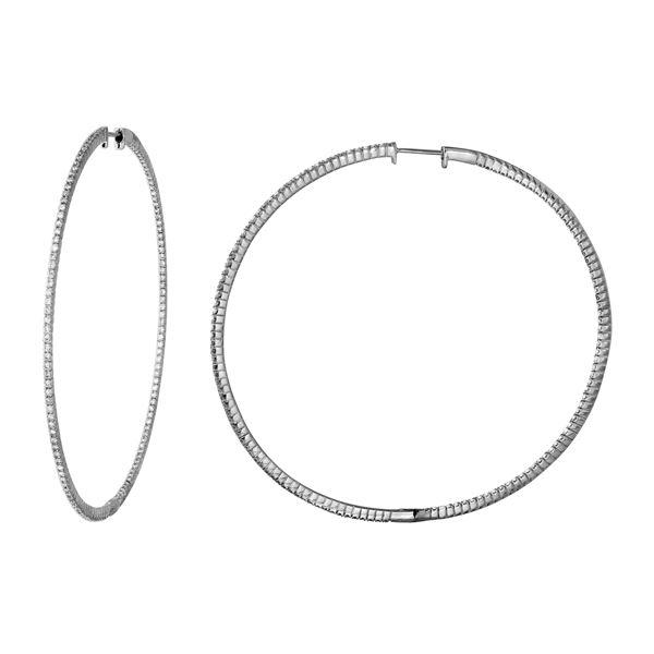 Natural 1.43 CTW Diamond Earrings 14K White Gold - REF-177X3T