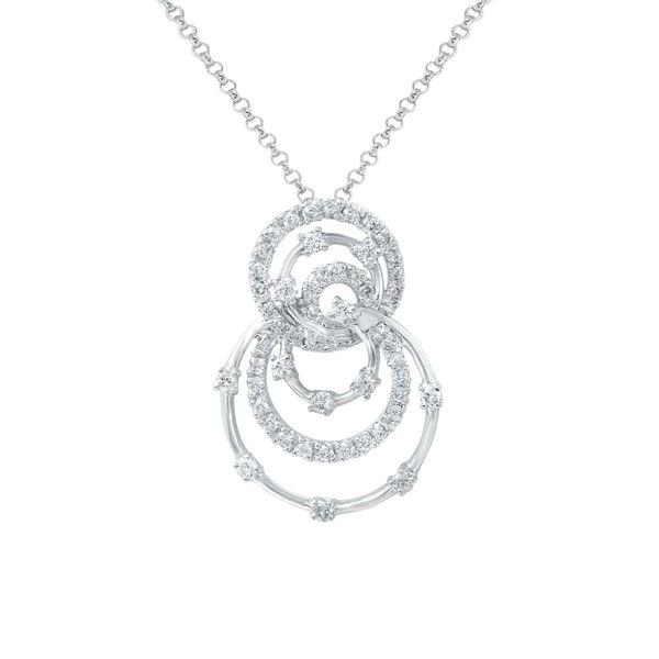 Natural 0.59 CTW Diamond Necklace 14K White Gold - REF-55R8K