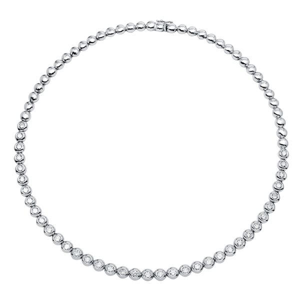 Natural 4.86 CTW Diamond Necklace 14K White Gold - REF-836R3K