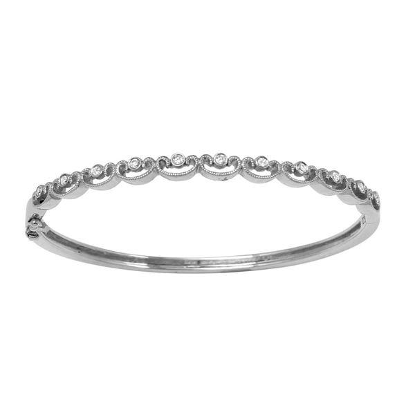 Natural 0.26 CTW Diamond Bracelet 18K White Gold - REF-179Y3N
