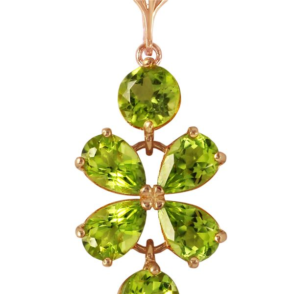 Genuine 3.15 ctw Peridot Necklace 14KT Rose Gold - REF-30Y3F