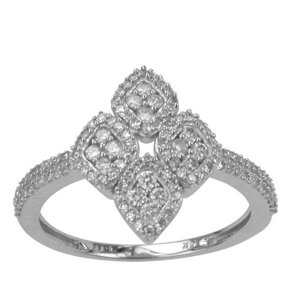 Natural 0.43 CTW Diamond Ring 14K White Gold - REF-49X5T