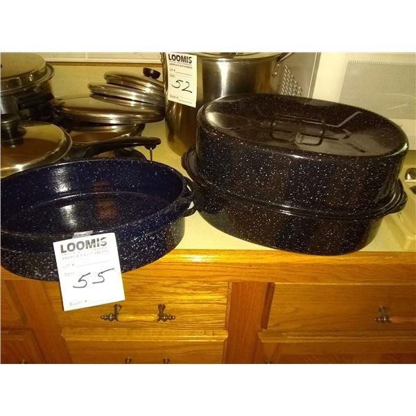 BUNDLE LOT: Kitchen Cupboard Contents, Granite Roasters, Lots of Kitchen Items