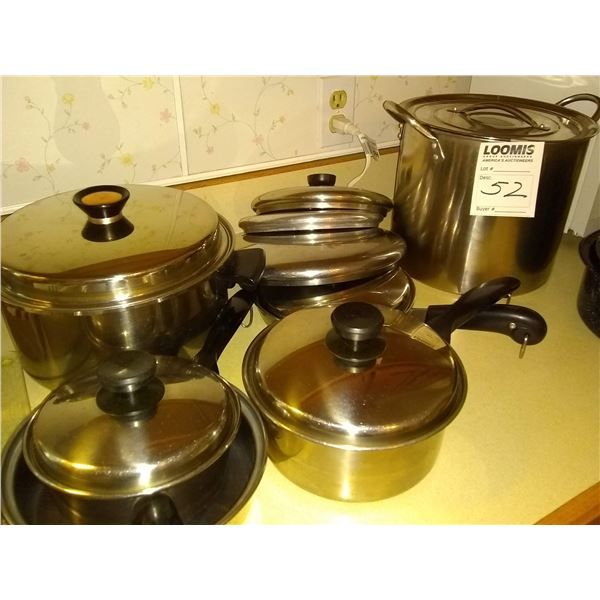 Lot of Stainless Steel Pots & Pans