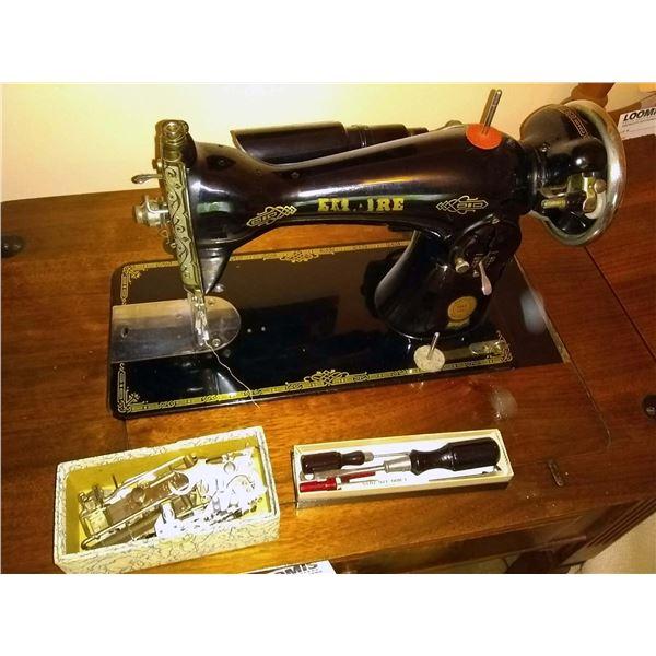 BUNDLE LOT: Empire Sewing Machine, Typewriter, Cassette Player