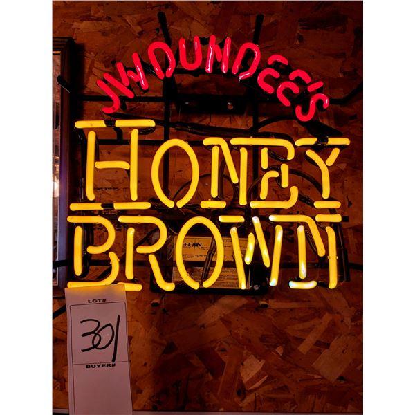 J W DUNDEES HONEY BROWN VINTAGE NEON
