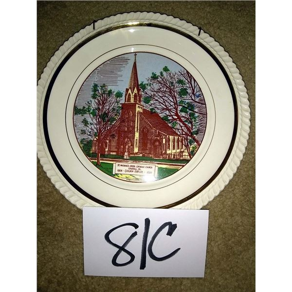 BUNDLE LOT: St. Michael's Collector's Plate, Fiber Optic Christmas Village, Dustfoe Respirator, More
