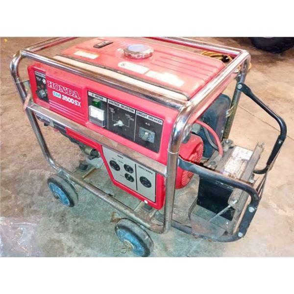 HONDA EM 3500 SX GENERATOR / LIKE NEW / AKA LOT 504