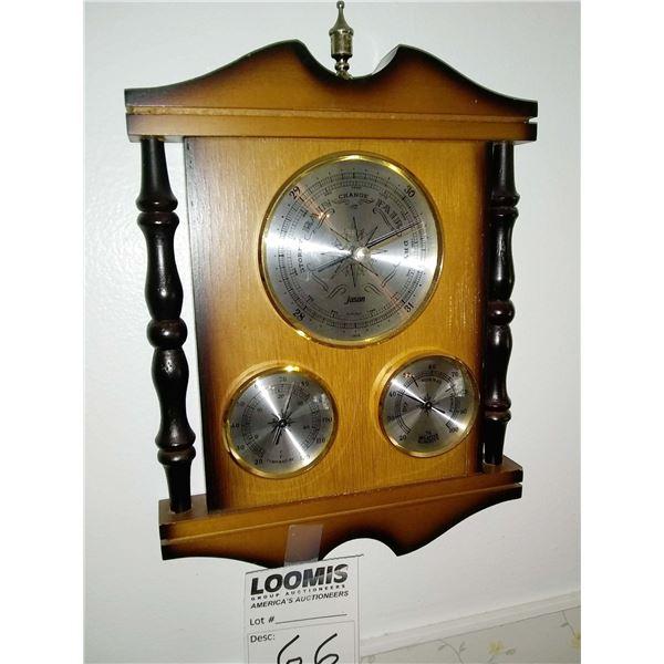 Vintage Jason Three Gauge Weather Station