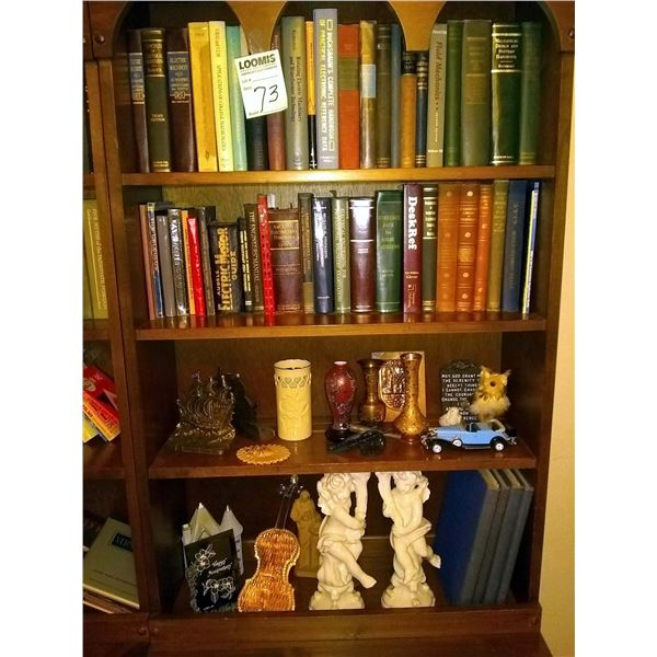 CONTENTS OF BOOKCASE ONLY/ VINTAGE BOOKS & COLLECTIBLES