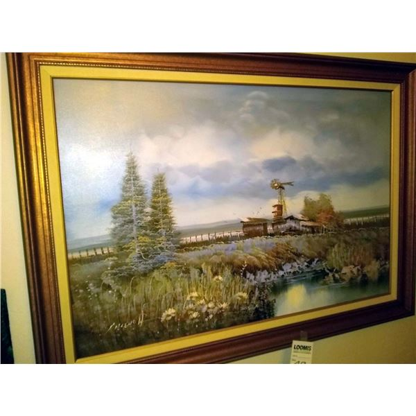Original Oil Painting on Canvas, Framed and Signed