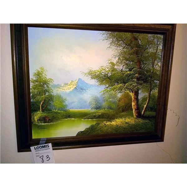 Framed Oil on Canvas Painting, Signed Rubens