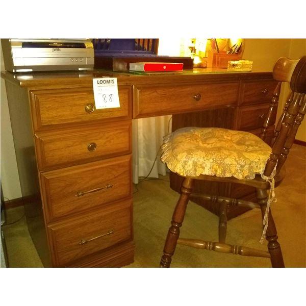 Walnut Knee-Hole Desk and Chair
