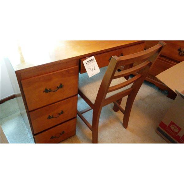Vintage 4 Drawer Desk