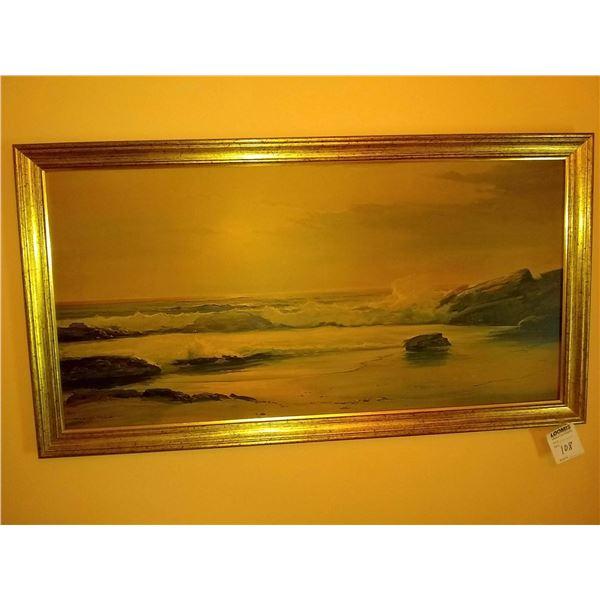 Large Framed Print by Robert Wood, Ocean Scene