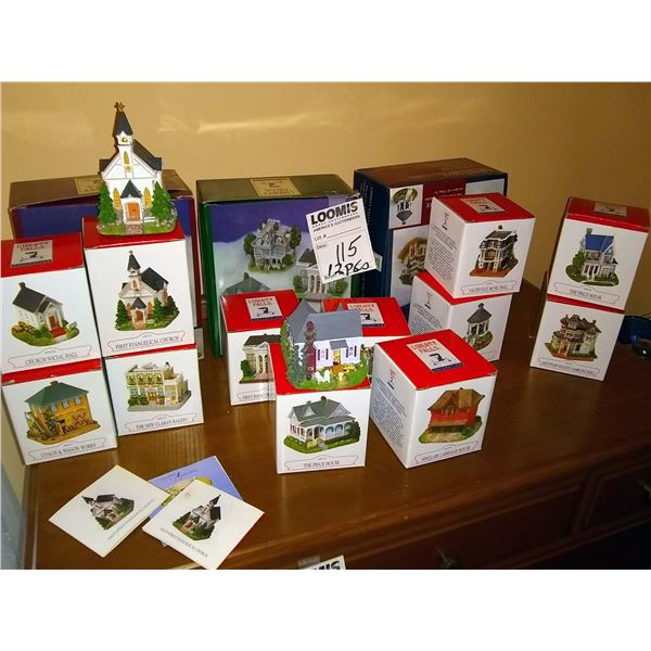 12 PC Liberty Falls Village Collection, in Original Boxes