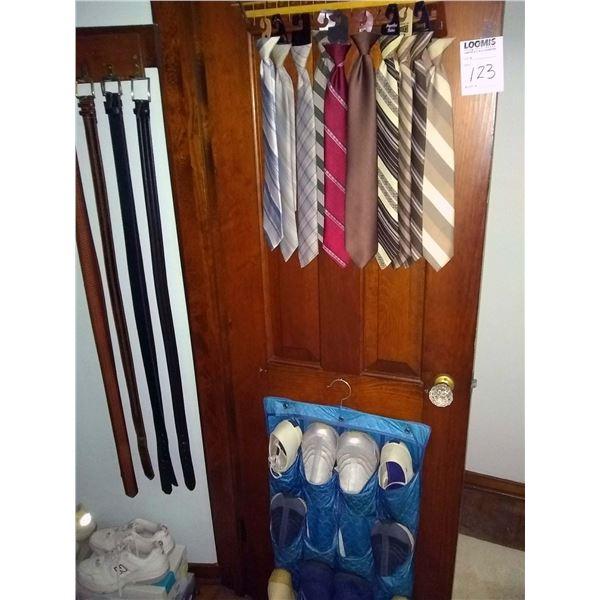 Closet Lot: Men's Clothing, Suits,.Shoes, Neckties, Belts