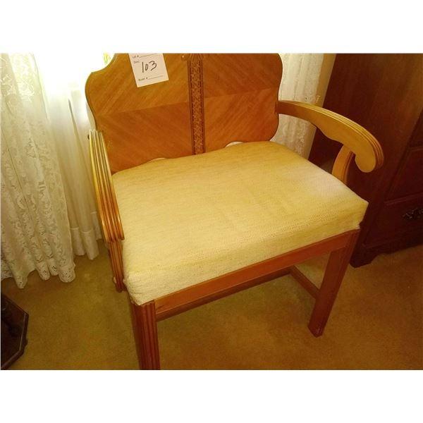 Vintage Ladies Vanity Chair
