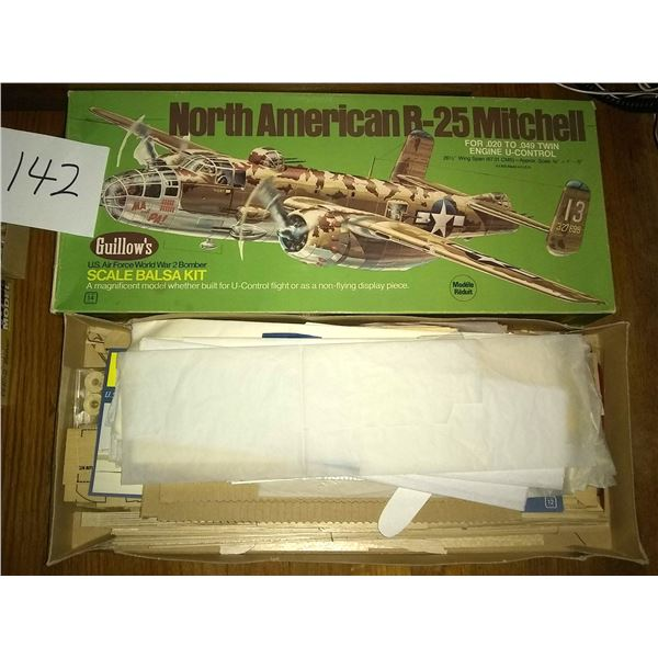 2 Vintage Guillow's Model Airplane Kits