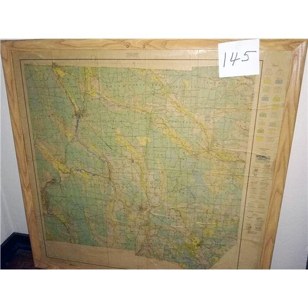 ANTIQUE Map/MERCER CO.