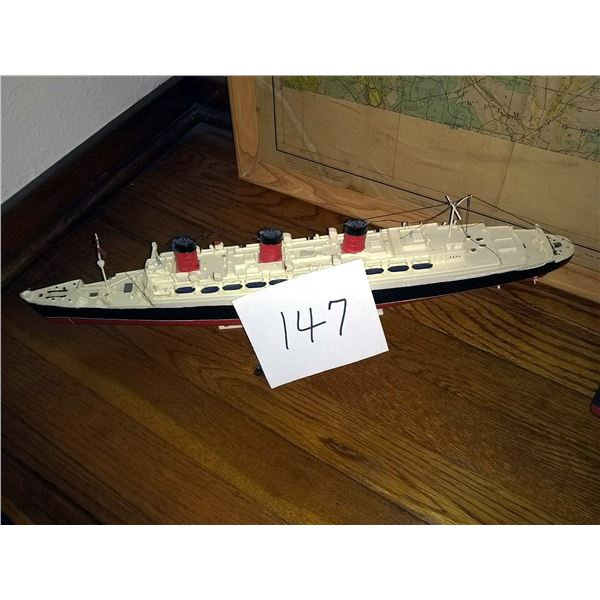 BUNDLE LOT: Model Queen Mary and Titanic, Hand Made 4 Wheel Car w engine
